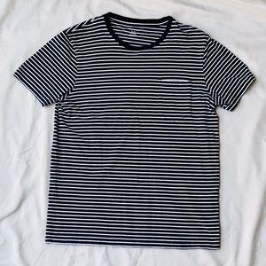 Club Monaco casual striped T-shirt in soft cotton.